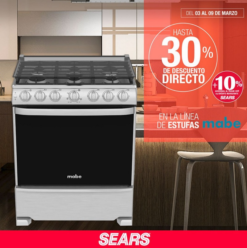 Sears Oferta Estufas Mabe