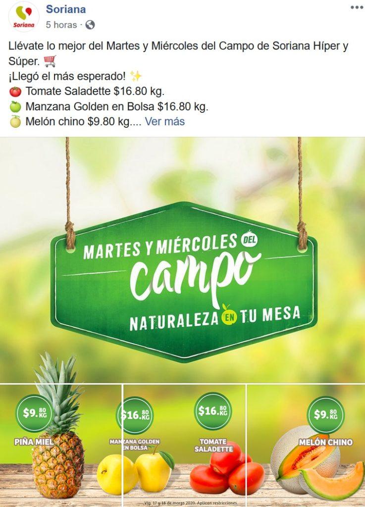 Soriana Ofertas Frutas y Verduras