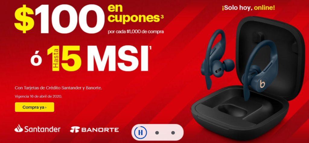 Best Buy Promoción Santander y Banorte