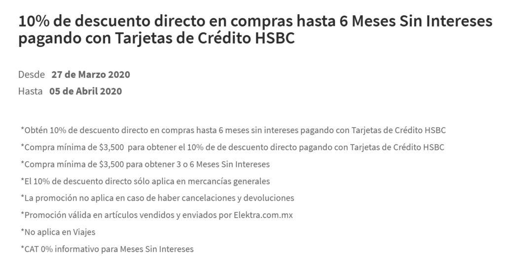 Elektra Promoción HSBC
