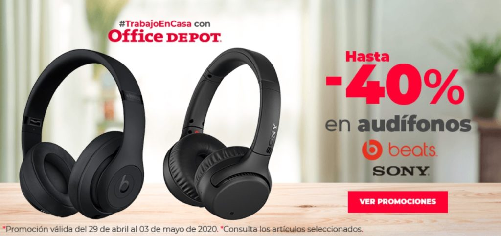 Office Depot Oferta Audífonos Beats y Sony
