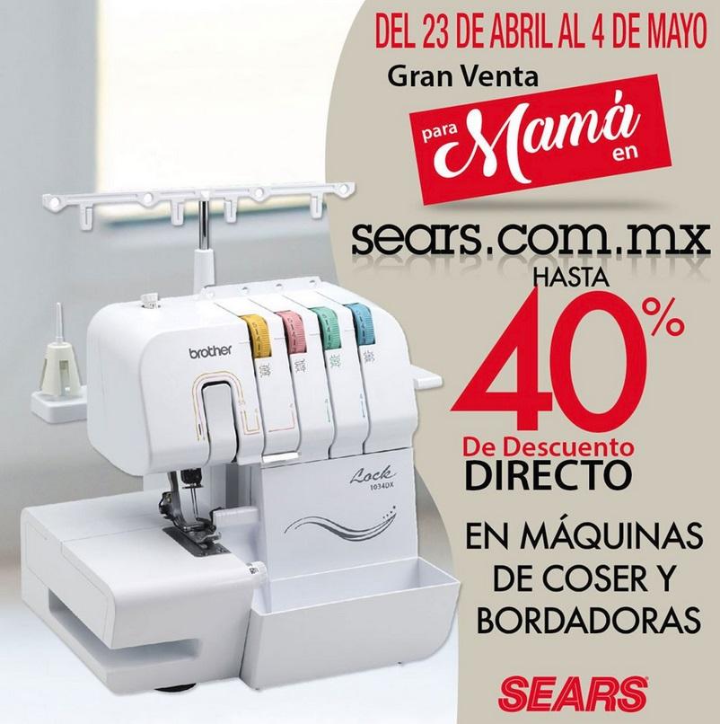 Sears Oferta Maquinas de Coser y Bordadoras