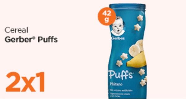 Chedraui Oferta Cereal Gerber Puffs