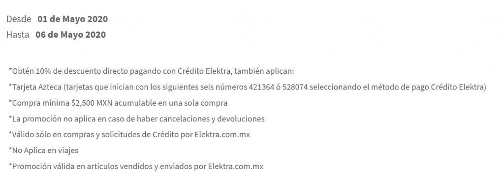 Elektra Promoción Crédito Elektra