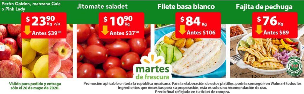 Walmart Ofertas Martes de Frescura Mayo 26