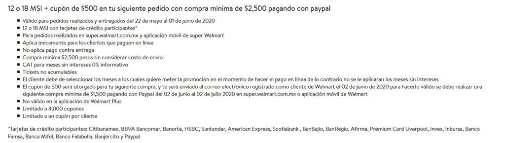 Walmart Promoción PayPal