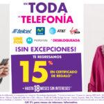 Suburbia Oferta Telefonía Celular Septiembre 30