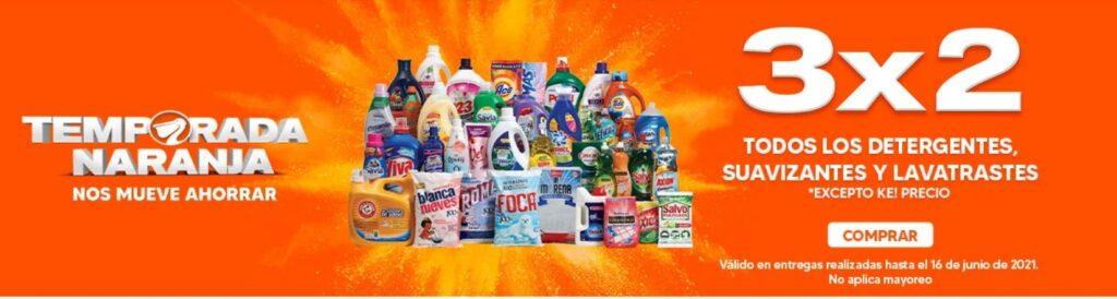 La Comer Oferta Detergentes, Suavizantes y Lavatrastes
