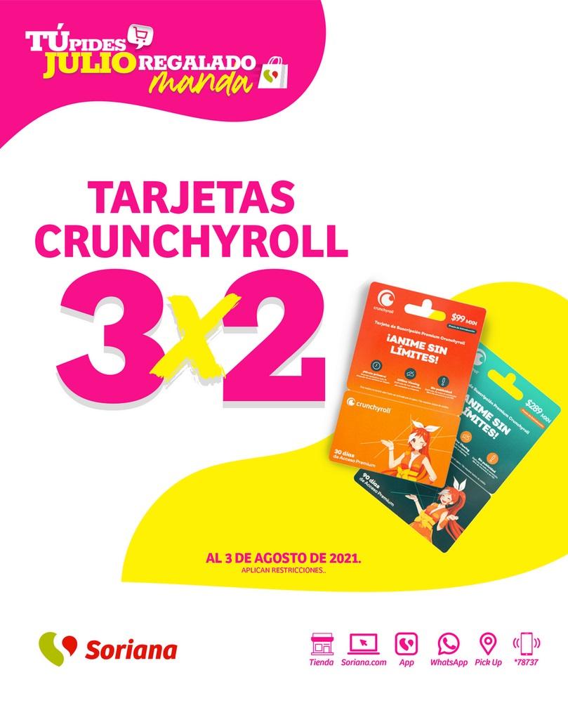 Soriana Oferta Tarjetas Crunchyroll